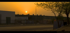 Sunset at Industrial City (Maverick :: Photography) Tags: sunset industry landscape amazing perfect desert sony pollution arabia dslr riyadh saudiarabia hdr industrialcity cebusugbo onlythebestare pinoyhdr sonyalphadslra200