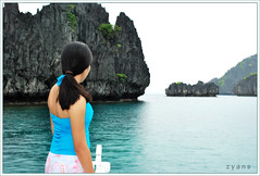 Sonia in search for the secret Lagoon. (zyans) Tags: portrait woman lady female palawan