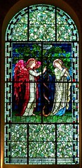 Annunciation (robin.croft) Tags: cathedral stainedglass winchester burnejones