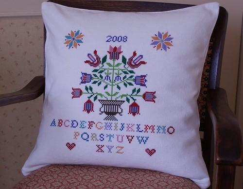 cross-stitch cushion