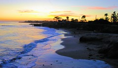 Santa Cruz Sunset (cwgoodroe) Tags: california carnival blue wedding summer santacruz sun color beach water sand surf candy games boardwalk nights rollercoaster 1001nights 1001