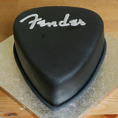 18th Birthday Fender Plectrum Cake (insite) Tags: birthday party food coffee cake rock shiny guitar cream foodporn fender birthdaycake icing imadethis pick rockandroll plectrum electricguitar fondant buttercream plec sugarpaste rolledfondant noveltycake flowerpaste mexicanpaste