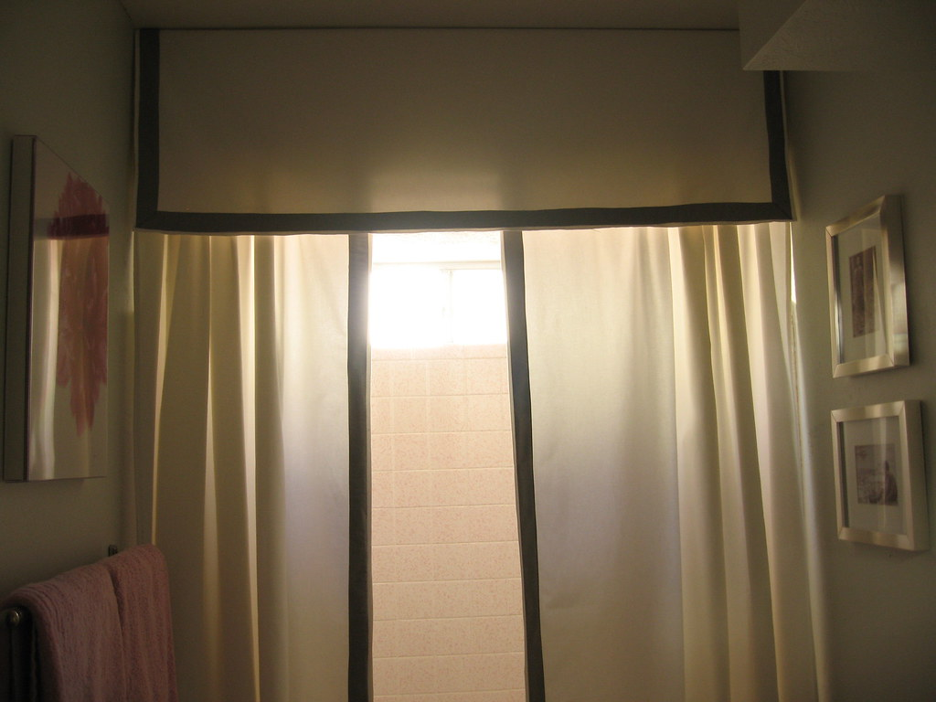 Guest Bathroom's New Curtains