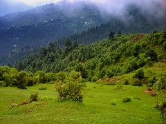 Clouds on Earth (Kashmir Pakistan) (M.Rizwan Rafique) Tags: pakistan sky mountains green nature beautiful beauty rain clouds rural village hiking north vivid kashmir favourite raining nwfp tracking jammu greenish azad welltaken isawyoufirst