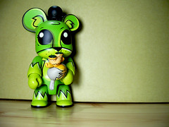 Play with it! (skawiu) Tags: pink toby green monster yellow toy king designer mint joe buff devil playset qee dunny saddest ledbetter labbit devilboy vivisect deadbeats deera dutkiewicz unicornasaurus