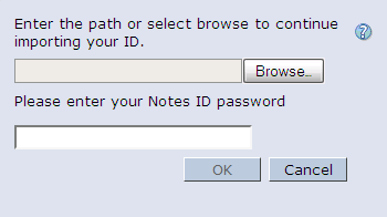 Importing your Lotus Notes ID into iNotes