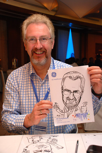 Caricature live sketching for GE Healthcare MI Symposium 13