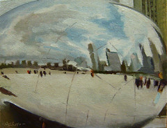 the bean oil painting