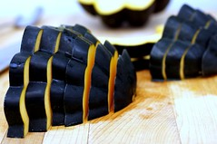 acorn squash, sliced thin