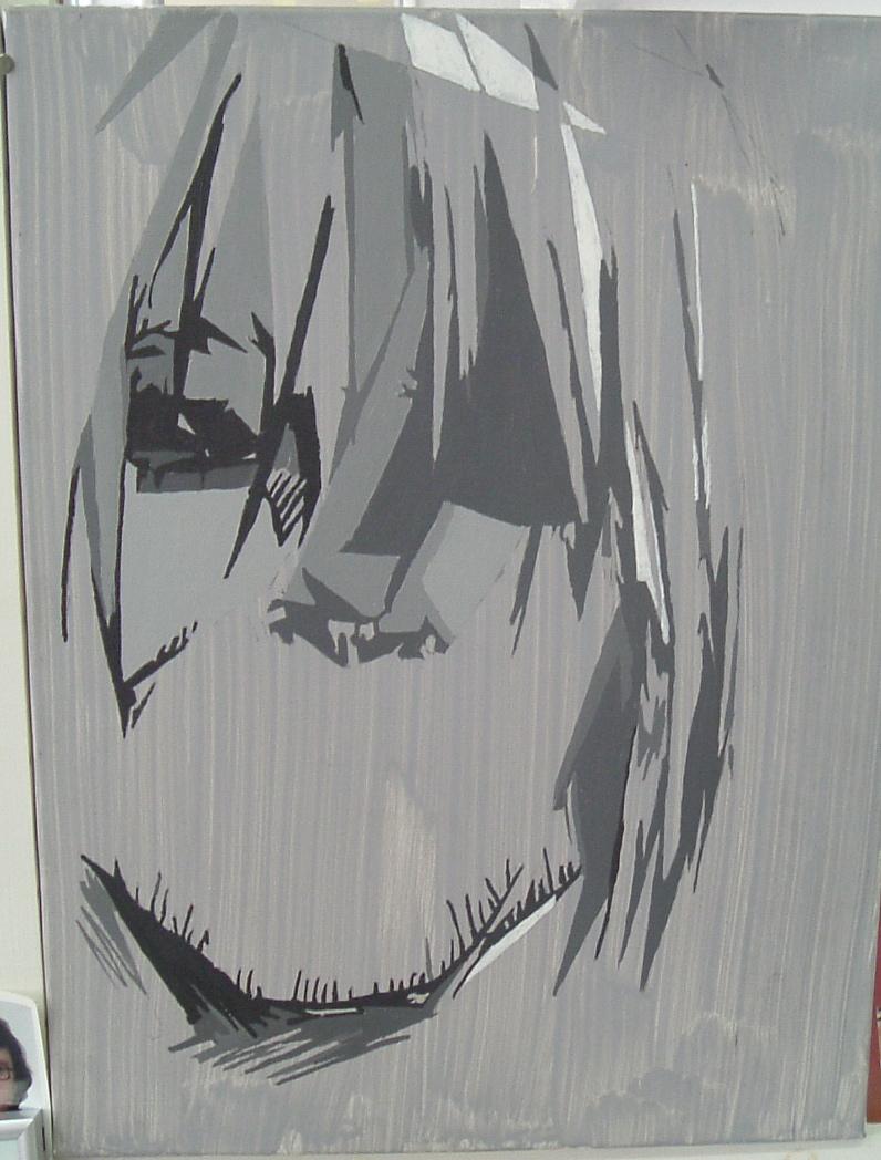 Kurt Cobain dipinto da uno dei suoi tanti fans