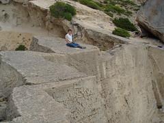 Yo aca (Carlitos) Tags: espaa man spain europa europe carlos atlantis ibiza eivissa quarry hombre cantera balearicislands islasbaleares santjosepdesatalaia lllesbalears
