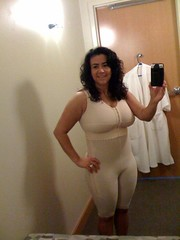 M.S. wearing Marena ComfortWear compression girdle and augmentation bra (marenausa) Tags: beauty surgery plastic compression health garments marena