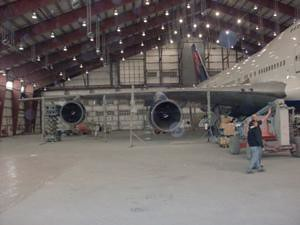 Boeing 747-400 Delta Air Lines - Queue de l'appareil