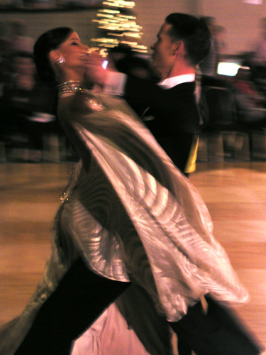 couple competing in amateur standard