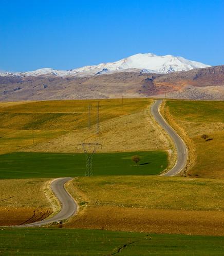 Road to snowy hills (by korayko)