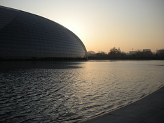 Sunset at the Beijing National Grand Theatre (ToddP99z) Tags: china travel sunset tourism asia beijing peking nationalgrandtheatre theunforgettablepictures goldstaraward