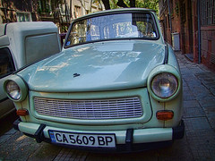 Trusted old pony (maistora) Tags: auto street old light summer car sofia small touch icon gone plastic explore nostalgia bulgaria german ddr enduring past iconic trabant trabi lightweight 2stroke maistora 3cyllinder explored20dec08 yahoo:yourpictures=cars yahoo:yourpictures=german