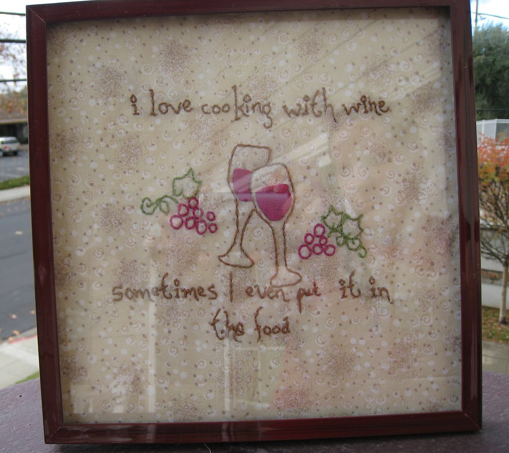 Wine Embroidery