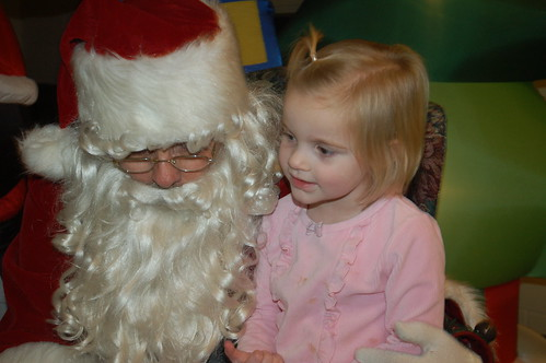 Hannah With Santa Clause