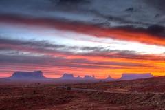 Navajo sunrise (CaZen) Tags: travel autumn sky panorama southwest west nature clouds america sunrise landscape dawn landscapes utah rocks parks naturallight redrocks navajo monumentvalley monuments canyons hdr 3xp travelerphotos perfectsunsetssunrisesandskys