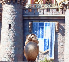 (FaithTrust_PixieDust) Tags: bird statue disneyland sleepingbeautycastle