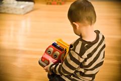 truck (matt-pearson) Tags: christmas boy truck toy 50mm play minolta sony dump nephew gift present f2 alpha a200 primelens