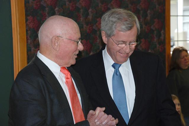 Kay Arthur 75th Birthday - Jack Arthur and Chattanooga Mayor Ron Littlefield by Precept Bible Study Photos