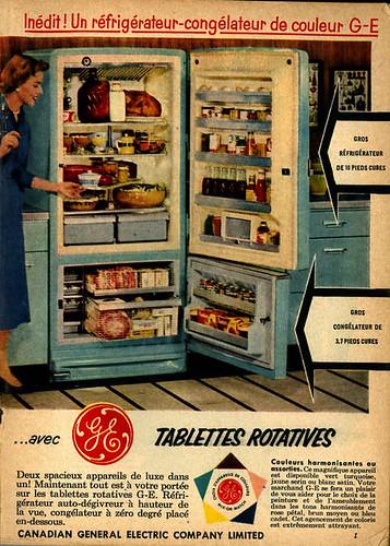 sélection juin 1955 pub no 01 / Réfrigerateur GE