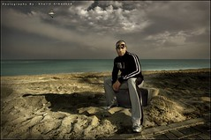 Simulation of Nature (khalid almasoud) Tags: light shadow bird beach nature clouds work canon eos 22 model photographer 10 gull south group center simulation resort kuwait  khalid mohammad voluntary  50d  alkhairan almasoud   allangawi