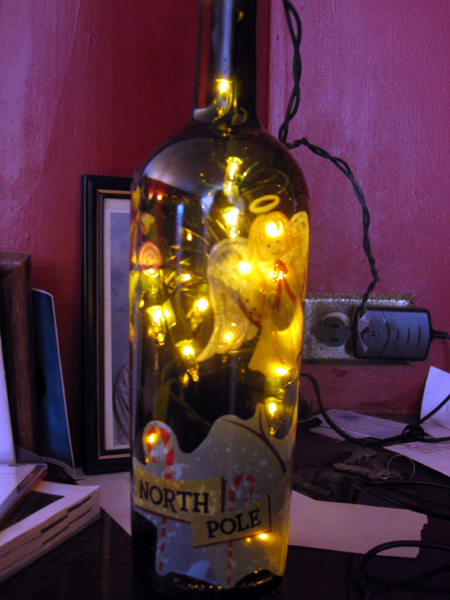 Christmas Bottle Light (Click to enlarge)