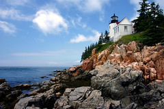 Bass Harbor Head Lighthouse - Maine (John H Bowman) Tags: july2004 2004 lighthouses maine newengland july bassharbor bassharborheadlight mtdesertisland hancockcounty nrhp kartpostal mainelighthouses anawesomeshot theunforgettablepictures theperfectphotographer newenglandlighthouses atlanticlighthouses lighthousetrek exphoto dragondaggerphoto