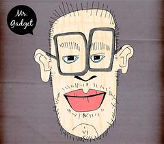Mr. Gadget (Marcel Husler) Tags: portrait man face illustration glasses gesicht mr mister mann brille herr zeichnung mrgadget