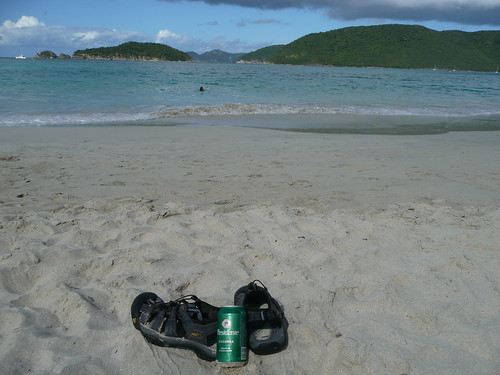 My Keen Newports at Cinnamon Bay in St. John