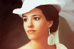 Retrato (zubillaga61) Tags: portrait woman face mujer retrato cara retouch corelpainter retoque