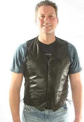 Mens_Braid_Side_Lace_Vest-Dynamicleather-US by Dynamicleather-US