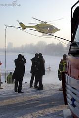 Eisrettungsübung Schiersteiner Hafen 09.01.09