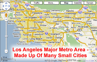 Major Metropolitan Area Composed of Many Small Cities