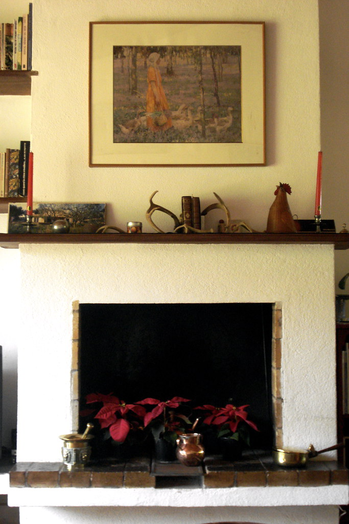 Fireplace in summer