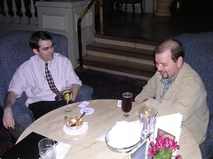 Tod Maffin and Maurizio Ortolani at the first Ottawa Podcast Meetup