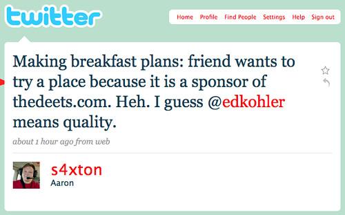 s4xton Twittering