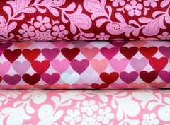 Heart fat quarter