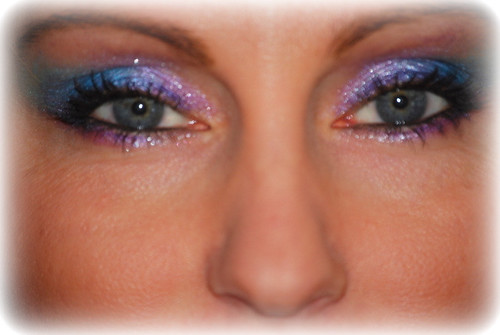 Blue glitter eyeshadow eyelash makeup pictures gallery