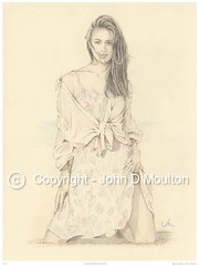 Elise (The Art of John D Moulton) Tags: blue pencil elise cream coloredpencil femaleform sensualart johndmoulton