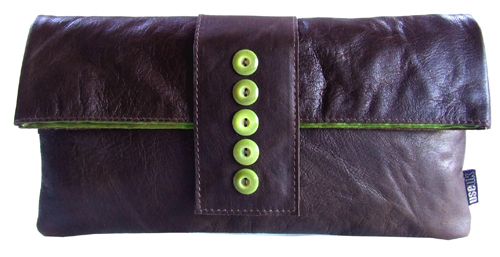 Love Eco Chocolate Brown Clutch