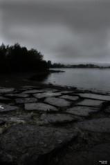 Hollingworth Lake _G205947c (isdky) Tags: cloud tree water rain fog sand rocks stones samsung sigma rainy rochdale gx20 photoshoppery hollingworthlake littleborough hollingworth 1770mm