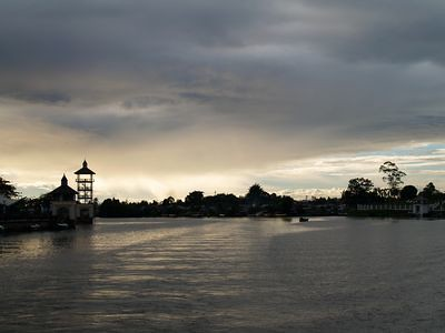 Sarawak river at sunset