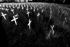 _MG_8279-42 (k.a. gilbert) Tags: morning bw white church field grass outside outdoors parkinglot memorial crosses naturallight providence handheld fullframe manualfocus 116 uwa tokina1116mmf28 canon5dc