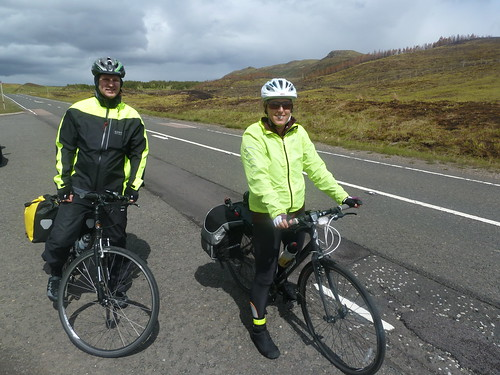 Photo of Paul and Lucy at the summit of the Pass of Glen Coe