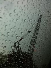 It's not a still giant (blackferien) Tags: street rain mxico mexico drops lluvia still giants ciudaddemxico chilangolandia