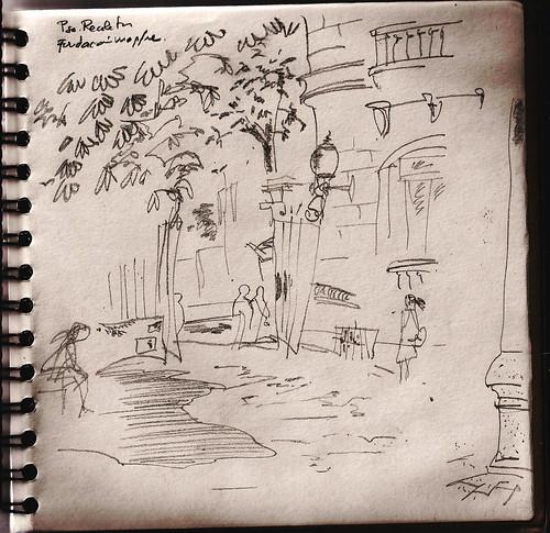 El patio de la Fundación mapfre, paseo de Recoletos, Madrid